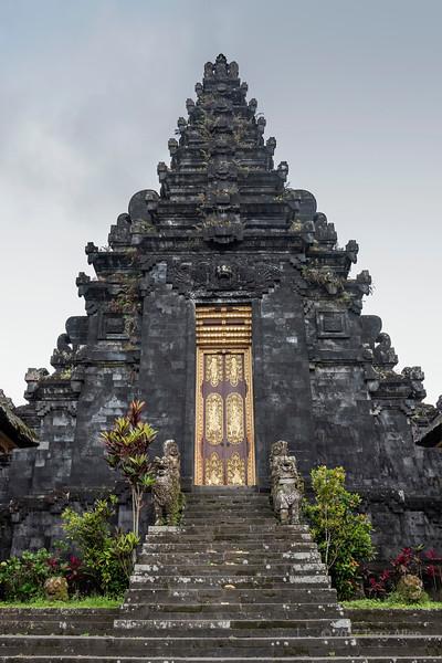 Kori agung gateway leading to the inner courtyard, Pura Besakih, Bali, Indonesia