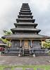 Eleven-tiered meru, upper level, Pura Penataran Agung, Pura Besakih Hindu temple complex, Bali, Indonesia