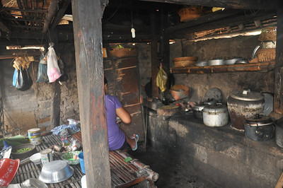 Tour of typical Balinese style house - kitchen