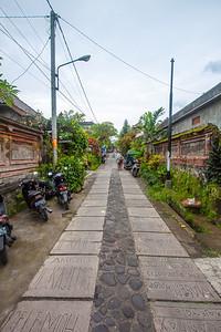 Back street in Ubud, Bali, Indonesia
