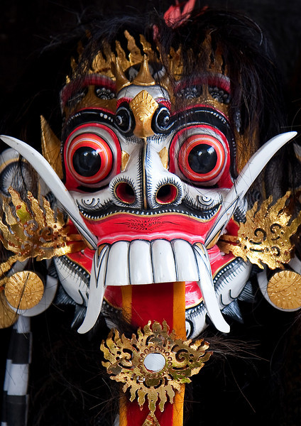 Ritual mask, Ubud, Indonesia