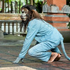 Monkey character in Barong Calon Arang traditonal dance, Ubud, Bali