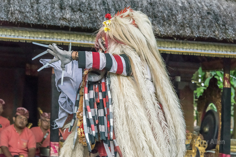 Rangda the evil witch, Calon Arang traditional dance, Sahadewa Barong Dance, Ubud, Bali
