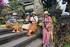 Laughing ladies, Pura Basakih Hindu temple complex, Mount Agung, Bali, Indonesia