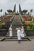 Worshippers at Pura Besakih, the Mother Temple of Bali, Mount Agung, Bali Island, Indonesia