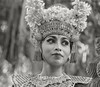 Portrait of a Balinese dancer in traditional attire #2 BW, Dragon Bridge, Monkey Forest, Ubud, Bali