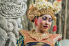 Portrait of a Balinese dancer in traditional attire, Dragon Bridge, Monkey Forest, Ubud, Bali