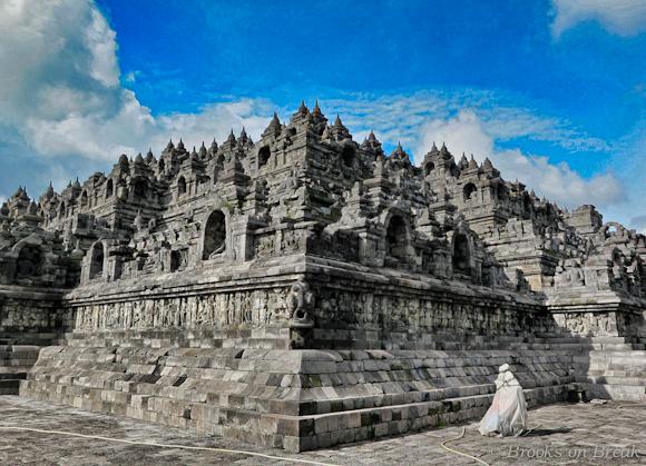 View from Borobudur's northeast corner © Russ Brooks