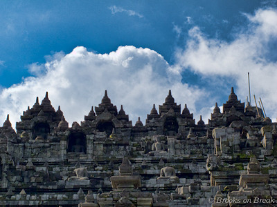 Detail view from Borobudur's north side © Russ Brooks