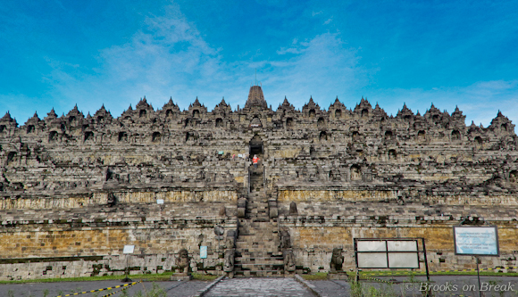 Borobudur seen from the base looking up © Russ Brooks