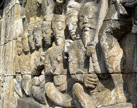 Detail of Borobudur reliefs © Russ Brooks