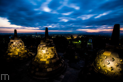 Candles in stupas