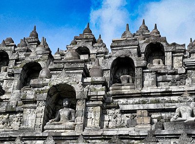 Borobudur Temple, Java, Indonesia, image copyright Russ Brooks
