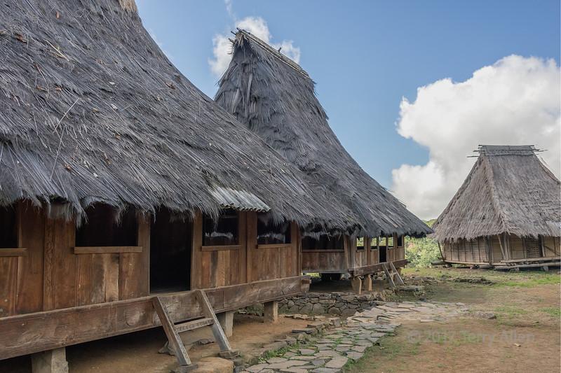 Traditional Lio house construction, Saga megalilthic village, Detusoko, East Nusa Tenggara, Indonesia