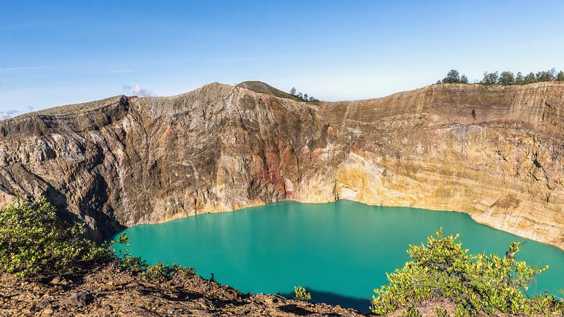 Tiwu Ata Polo crater lake (Enchanted Lake), Kelimutu National Park, East Nusa Tenggara Island, Indonesia