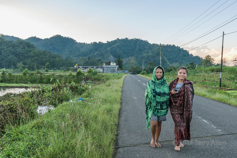 School girls on the way to classes, Moni, East Nusa Tenggara, Indonesia