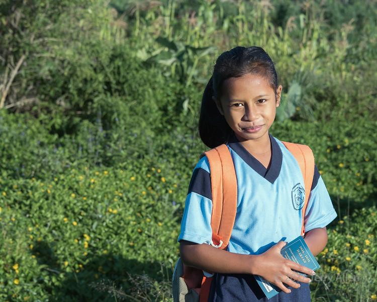 Portrait of an Indonesian schoolgirl, Moni, East Nusa Tenggara, Indonesia