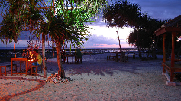 Dusk at the Sunset Bar — Gili Trawangan Island, Indonesia