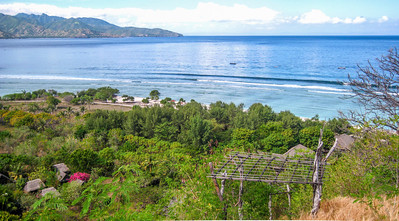 Hill top view — Gili Trawangan Island, Indonesia