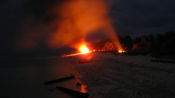 Beach Bonfire — Gili Trawangan Island, Indonesia