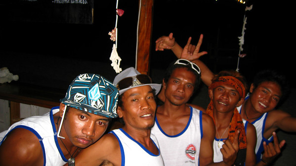 The guys at the Sunset Bar — Gili Trawangan Island, Indonesia