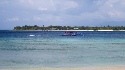 Looking out at Gili Meno — Gili Trawangan Island, Indonesia