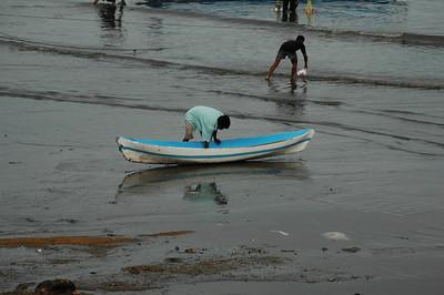 Kupang  - a small boat on the shore