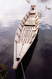 One of our longboats in Danau Sentarum Wildlife Reserve