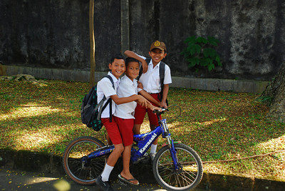 Kids with a bicycle