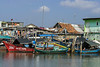 Traditional fishing boats and runabouts, Sunda Kelapa Harbour, Jakarta, Indonesia