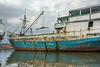 Pinisi loading freight, Sunda Kelapa Harbour, Jakarta, Indonesia