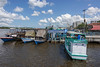 Boats at the wharf of Kumai village, Kumai River, Kalimantan Province, Borneo Island