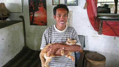 A couple of the guys at Suci Homestay — Sapit, Lombok, Indonesia