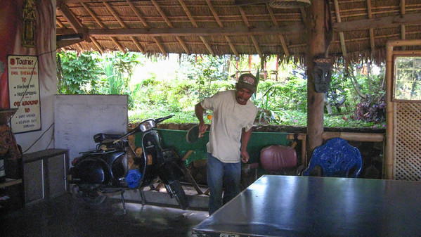 Intense ping-pong at the Hati Suci Homestay — Sapit, Lombok, Indonesia