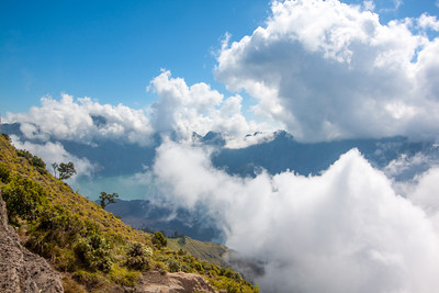 Clouds rolling in over Mt. Rinjani — Lombok, Indonesia