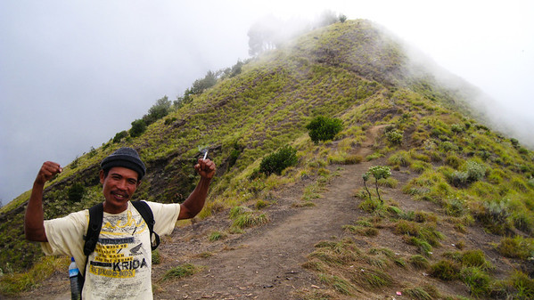 My fearless chain-smoking guide on Mt. Rinjani trek — Lombok, Indonesia