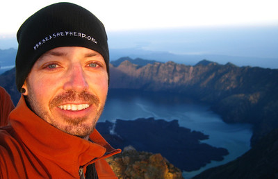 Selfie on the peak of Mt. Rinjani — Lombok, Indonesia