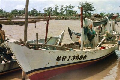 Trammel net boat at Tawang