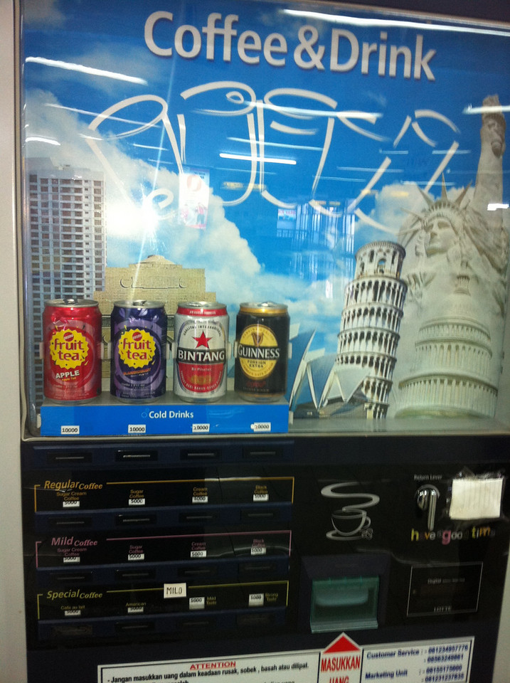 Guinness Vending Machine, Manado Airport
