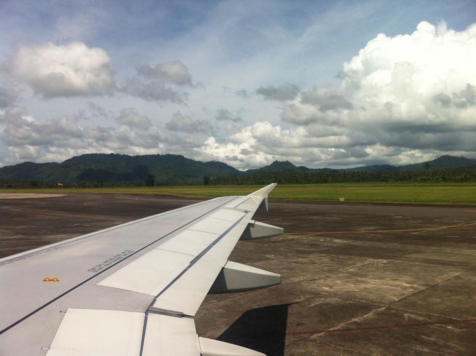 Hills Surrounding Manado Airport