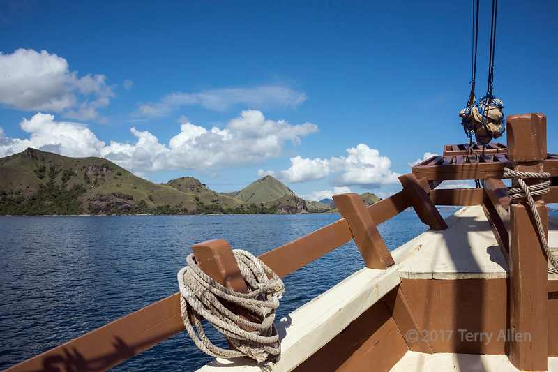 Wooden sailing ship in the West Flores Islands, Indonesia