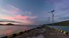 Wharf at Komodo Island at sunrise, Lintah Strait, Indonesia