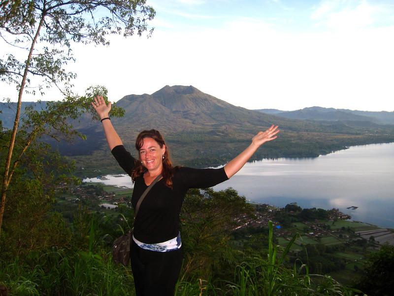 Brooke at Mount Agung