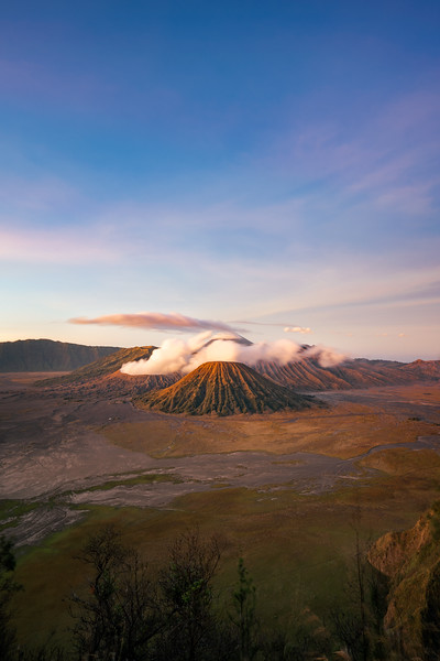 Mount Bromo at sunrise.