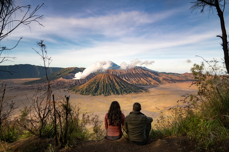 Overlooking Mt. Bromo