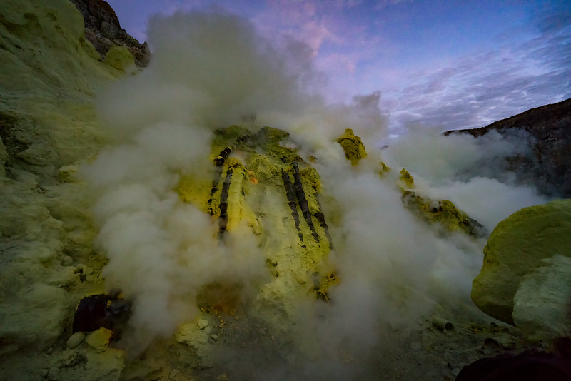 Sulfur Mine at Mount Ijen