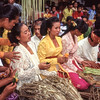 The bride's mother cries at a wedding ceremony, Bali, Indonesia.