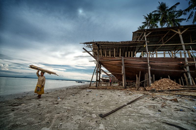 Boat Building at Bira