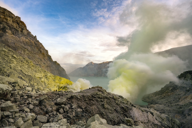 Mt. Ijen at Sunrise  Version 2
