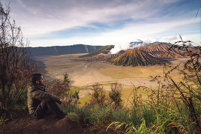 Watching Mt. Bromo Smoke